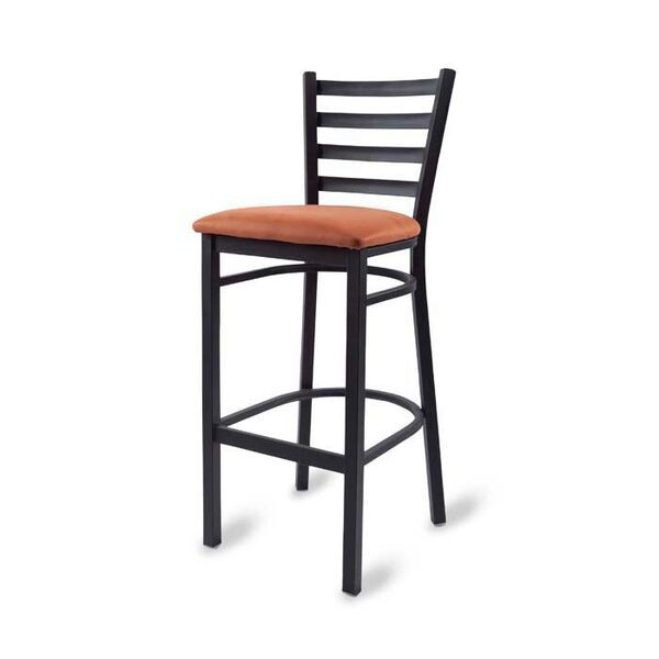 Excellent O W Seating M45C Ladder Back Barstool Welded Metal Frame With Upholstered Seat Forskolin Free Trial Chair Design Images Forskolin Free Trialorg