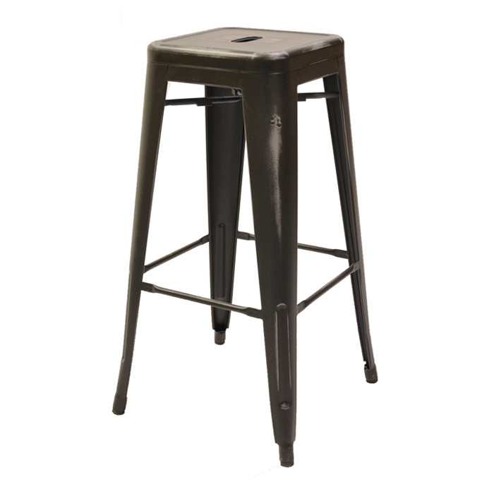 Fabulous O W Seating M11B Ab Antique Black Marseille Industrial Steel Bar Stool Ncnpc Chair Design For Home Ncnpcorg