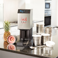 (16504) Pacojet 2 Food Processor System Mixology Package, maintains consistency across mixology applications using the included Gold Pacotizing blade with steel titanium-nitrade finish, for Pacotizing deeply frozen ingredients, micropurées ingredients/material, touchpad/touchscreen controls, colour graphic display, on/off rocker switch, includes (1) Pacojet 2 machine, (1) Pacotizing blade, (1) spray guard, (1) outer protective beaker, (1) chrome spatula, (1) use instruction book, (1) international recipe book, (1) cleaning kit (with washing insert, sealing & rinsing ring), (20) additional beakers with lids, (1) coupe set, (1) gold Pacotizing blade (titanium nitrate coated/hardened blade) for Pacotizing deep frozen ingredients, stainless steel exterior, 6,000 RMP motor/2,000 RPM Pacotizing blade, cETLus (includes 3 free beakers)
