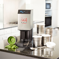 (16503) Pacojet 2 Food Processor System Care Catering Package, uses, standard accessories to accommodate special care diets in healthcare kitchens, creates filament-free customized diets while retaining vitamins, minerals & aroma, micropurées food, touchpad/touchscreen controls, colour graphic display, on/off rocker switch, includes (1) Pacojet 2 machine, (1) Pacotizing blade, (1) spray guard, (1) outer protective beaker, (1) chrome spatula, (1) use instruction book, (1) international recipe book, (1) cleaning kit (with washing insert, sealing & rinsing ring), (20) additional beakers with lids, (1) coupe set, (1) gold Pacotizing blade (titanium nitrate coated/hardened blade), stainless steel exterior, 6,000 RMP motor/2,000 RPM Pacotizing blade, cETLus (includes 3 free beakers)