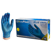 High visibility GlovePlus blue vinyl is perfect for food service applications.  This glove offers a cost effective, non-latex solution. Industries: Agriculture, Animal Health, Food Processing, Food Service, Janitorial, Nail/Beauty, Painting, Paper/Packaging, Printing