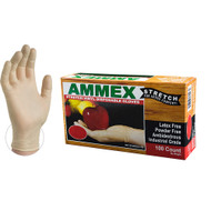 AMMEX stretch synthetic vinyl glove offer more elasticity than standard vinyl.  These gloves allow for a full range of motion similar to latex without the latex allergy concerns. Industries: Agriculture, Animal Health, Food Processing, Food Service, Janitorial, Nail/Beauty, Painting, Paper/Packaging, Printing