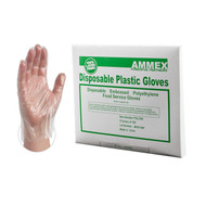 AMMEX poly gloves are your most economical barrier protection choice.  Packaged in sleeves of 100, these gloves are perfect for food service and food preparation where frequent glove changes are a must. Industry: Food Service