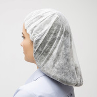 Keep hair out of the way and free from grease, dust and dirt, with poly spun bouffant caps. Gentle elastic band. Latex free. White or blue. Industries: Industrial, Food Service
