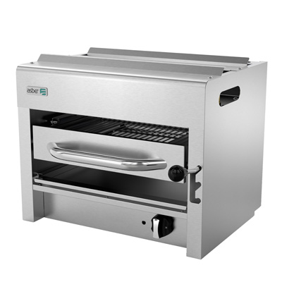 "Salamander Broiler, natural gas, range or wall-mount, 24"", (1) 20,000 BTU burner, adjustable 3 position stainless steel rack, removable crumb tray, pressure regulator, stainless steel front, sides & control panel, 20,000 BTU, cETLus, (ships with LP conversion kit) Made in North America"
