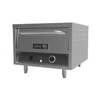 "Pizza Oven, deck-type, electric, 26""W, single chamber, (2) decks, ceramic baking surface, manual timer, interior light, stainless steel exterior, 4"" adjustable legs, 3600 watts, 220-240v/60/1-ph, 12.1 amps, cord, NEMA 6-20p, cETLus, Made in North America"