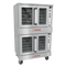 """Bronze Convection Oven, gas, double-deck, standard depth, solid state controls, 60-minute cook timer, electronic ignition, oven interior light, stainless steel front, top, sides & door, porcelain interior, 6"""" stainless steel legs, 120v/60/1-ph, 7.9 amps, NEMA 5-15P, (2) 1/2 HP, 108,000 BTU, CSA, NSF. SHOWN WITH OPTIONAL ACCESSORIES."""