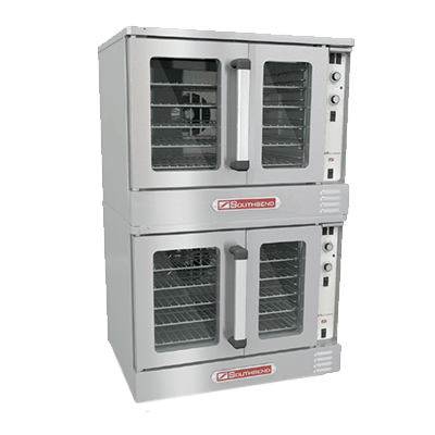 Bronze Convection Oven, electric, double-deck, standard depth, solid state controls & 60 minute cook timer, dependent glass doors, (5) wire racks each, 11-position rack glides, 2-speed fans, interior light, porcelain interior, stainless steel front, top & sides, 7.5 kW per oven cavity, (2) 1/2 HP, cCSAus, NSF, ENERGY STAR®