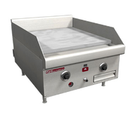 "Griddle, countertop, gas, 48"" W x 24"" D cooking surface, 1"" thick polished steel plate, manual controls, battery spark ignition, stainless steel front, sides & 4"" adjustable legs, 80,000 BTU, CSA, NSF (Note: Qualifies for Southbend's Service First™ Program, see Service First document for details). MODEL HDG-24 SHOWN."