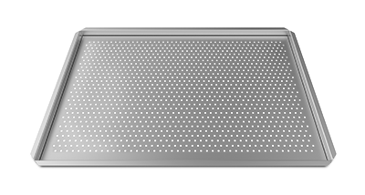 """FORO.BAKE"" Aluminum pan, 18""x26"", perforated.  Ideal for Pastry, Cakes,Using  Silicon Mats"
