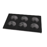 "EGGX GN 1/1 12""x20"" Non-Stick Aluminum Tray, ideal for fried eggs, omelets, pancakes, and tortillas"