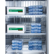 "Performance series Pharma-Lab All-Freezer, reach-in, two-section, 56""W, 49 cu. ft. capacity, (2) self-closing solid french locking doors with 90° stay open feature, interior light, (8) adjustable wire shelves, audible open door alarm, visual & audible temperature alarms, temperature probe, forced-air cooling, digital thermostat, -30°C to -15°C temperature range, frost-free defrost, stainless steel interior & exterior, (4) 6"" casters (2 locking), R290a Hydrocarbon refrigerant, 115v/60/1-ph, 10.5 amps, UL, ULC, ETL-Sanitation (Medical)"