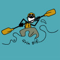 Grin Big!™ T-Shirt Graphic with Kayak