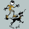 Grin Big! Cotton T-Shirt Hiking with Your Dog