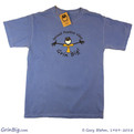 Men's 100% Ring Spun Cotton T-Shirt featuring Penman the Optimist spreading positive vibes since 1989