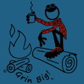 Men's Camping Coffee Long Sleeve T-Shirt from Grin Big!™