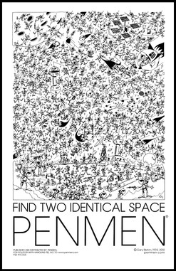 Find Two Identical Space PENMEN® - 11 x 17 - 1993