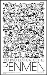 Find Two Identical Coffee PENMEN®  - 11 x 17