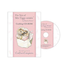 Beatrix Potter The Tale of MRS. TIGGY WINKLE Crafting CD-Rom Backing Papers Envelopes Note Papers Inserts Tea Bag Papers Borders More