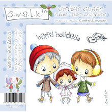 Swalk Winter Cheer Collection HAPPY HOLIDAYS EZMount Stamp Set