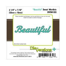 Die-Versions DVSW-009 BEAUTIFUL Sweet Wordlets Cutting Die