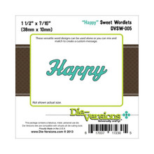 Die-Versions DVSW-005 HAPPY Sweet Wordlets Cutting Die
