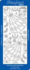 STARFORM BLACK DRESS 1053 Peel Stickers OUTLINE