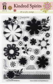 20 KINDRED SPIRITS 1140 Rubber Stamps Unmounted