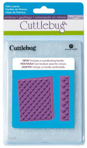 Cuttlebug A2 PALM LEAVES EMBOSSING FOLDER AND BORDER SET