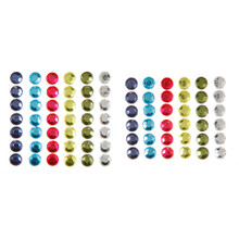 7mm Adhesive Back Gems Jewels 72pc Bright Beautiful Colors Add Sparkle!