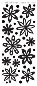 Elizabeth Craft Velvet Flowers 3002 Beige Peel Stickers