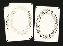 Luxury Cardlayers 3pc Sprinkle Flowers Oval C5847 Ivory Laser-Cut Card Accents Making
