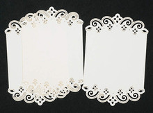 Luxury Cardlayers 3pc Floral Borders C5303 Ivory Laser-Cut Card Accents Making