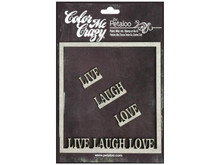 Color Me Frame Live Laugh Love Petaloo 1581-001 Make Custom Colors!