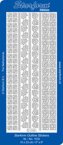 Starform BLACK 1033 BORDERS & CORNERS Peel Stickers