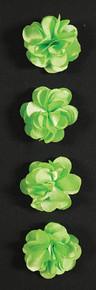 Fluerettes Fabric Flower Stickers Satin Green 4pc Per Pack Mark Richards | SKU: 10717