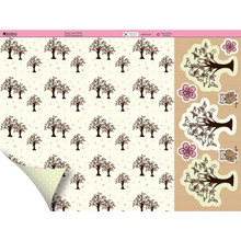 Kanban Dawn Bibby 12x12 Trees and Owls N87 DS Paper & Foiled Die Cuts Kit