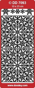 DD7093 Snowflake Corners SILVER Peel Stickers One 9x4 Sheet