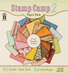 6x6 Stamp Camp 2 Double-Sided Paper Pack 24-sheets Scrapbooking HOTP