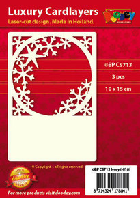 Luxury Cardlayers 3pc Ice Crystal Window  Ivory 10x15cm Laser-Cut Card Accents Making