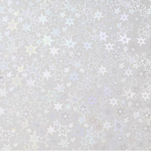 3pc 8.5x11 Silver Holographic Stars Adhesive-Back Paper