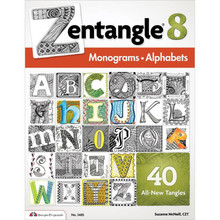 Zentangle 8 Monograms Alphabets 40-More Tangles Drawing Inspiration Ideas Instruction