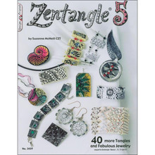 Zentangle 5  for Fabulous Jewelry Book 40-More Tangles Drawing Inspiration Ideas Instruction