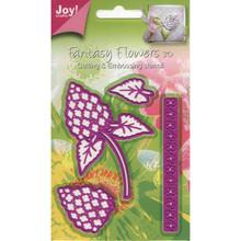JOY! CRAFTS Lilacs Dies Set-of-4 Flowers Border Leaves Thin Dies