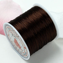 80m .5mm Strong Stretchy beading string DK BROWN elastic