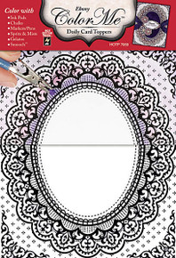 Color Me Card Toppers EBONY Doily Card Toppers 7069 Paper Pack