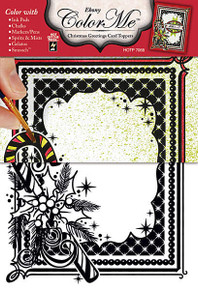 Color Me Card Toppers EBONY Christmas Greetings Card Toppers 7068 Paper Pack
