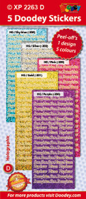 5-Sheet XP2263D SOFT COLORS DAUGHTER SO NEICE NEPHEW Holographic Greeting PURPLE SILVER PINK GOLD SKY BLUE Word Stickers Set Peel