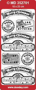 VERSES TEXT LABELS Silver CHRISTMAS MD352701 Peel Stickers Labels One 9x4 Sheet