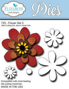 Elizabeth Craft Designs 725 Flower Set 3 Cutting Die